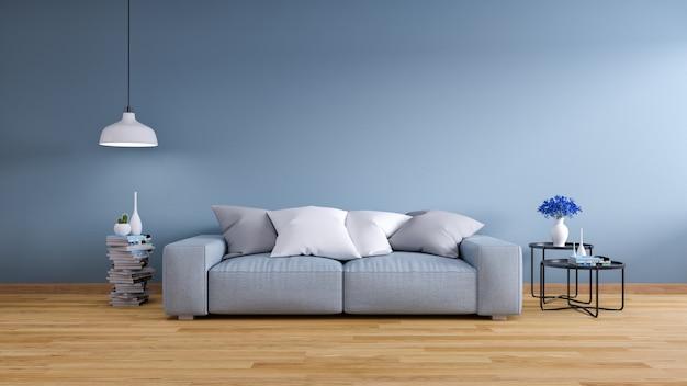 Interior vintage da sala de estar Foto Premium