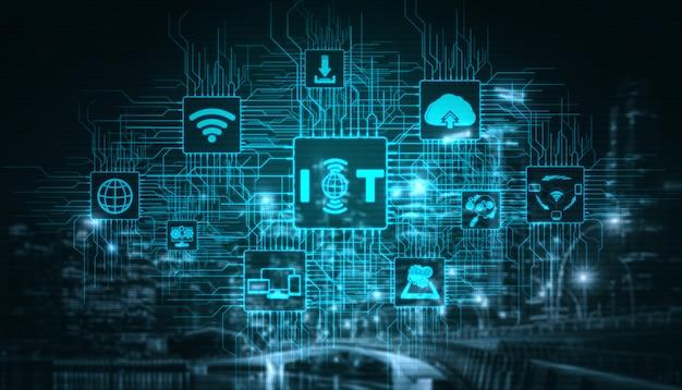Internet das coisas e tecnologia de comunicação Foto Premium