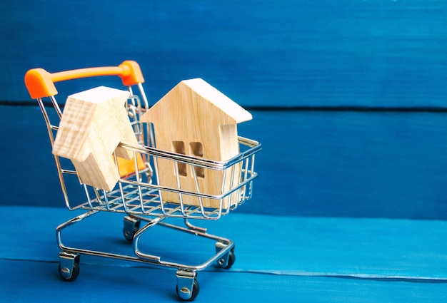 Investimento imobiliário e conceito financeiro hipoteca da casa. compra, aluguel e venda de apartamentos. Foto Premium