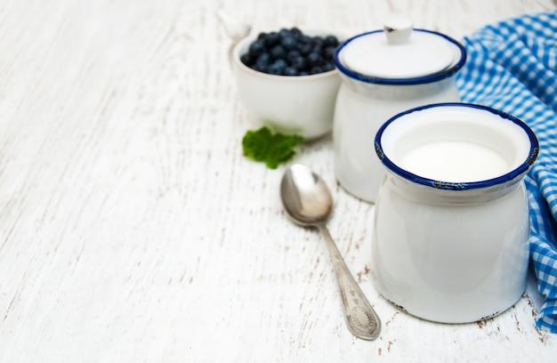 Iogurte de frutas Foto Premium