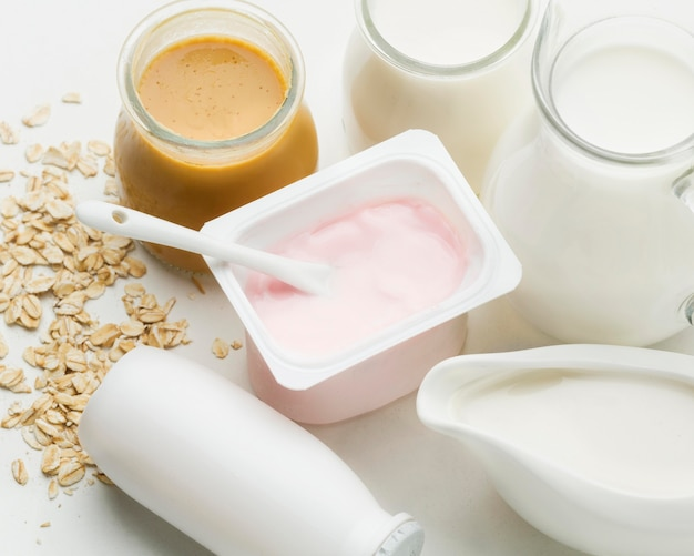 Iogurte fresco com leite orgânico Foto gratuita