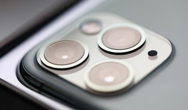 Iphone pro câmera digital imagem closeup Foto Premium