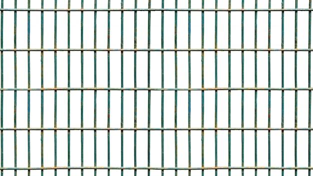 Isolado quadrado da gaiola de ferro no branco. Foto Premium