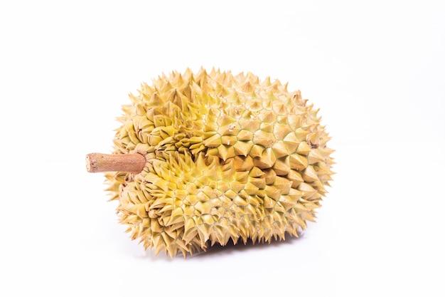 Isolados do durian no fundo branco. Foto Premium