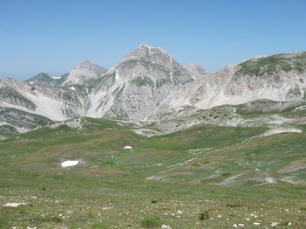 Itália, parque nacional gran sasso Foto Premium