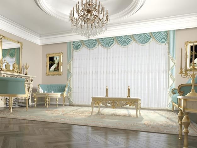 Janela de cortina com decorativo Foto Premium