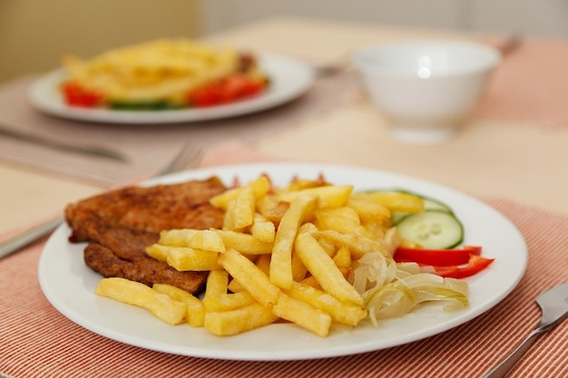 Jantar dieta chips de comer carne prato franc s baixar for A comer en frances