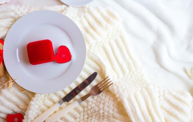 Jantar romântico do dia dos namorados Foto Premium