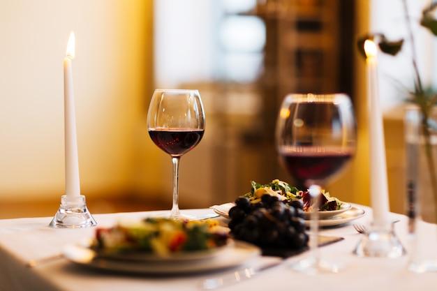 Jantar servido Foto gratuita
