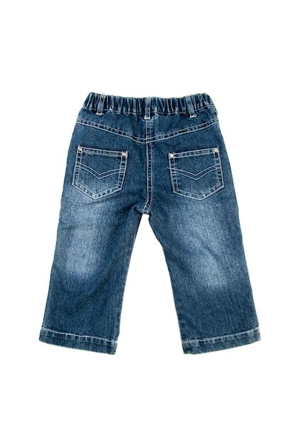Jeans isolado sobre o fundo branco Foto Premium