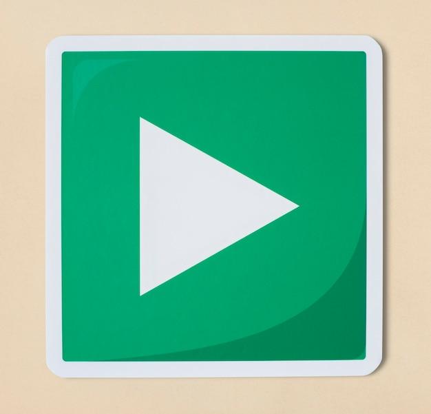 Jogar ícone de tecnologia de sinal de mídia Foto gratuita