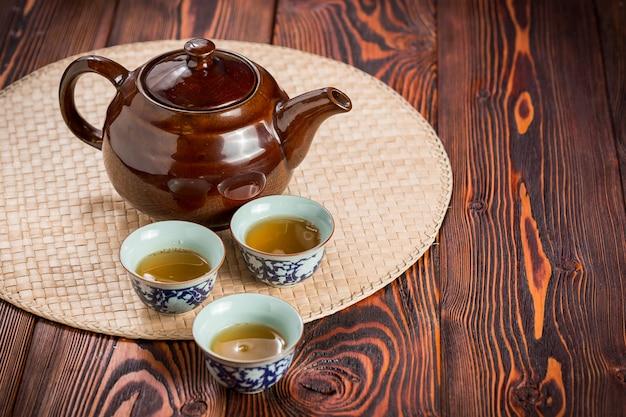 Jogo de chá asiático Foto Premium