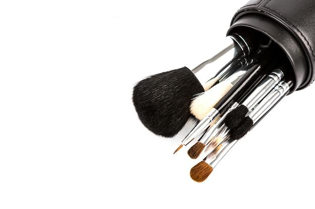 Jogo de escova de pintura cosmética para a composição Foto gratuita