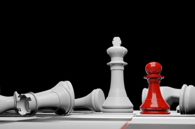 Jogo de tabuleiro de xadrez, conceito competitivo de negócios Foto Premium