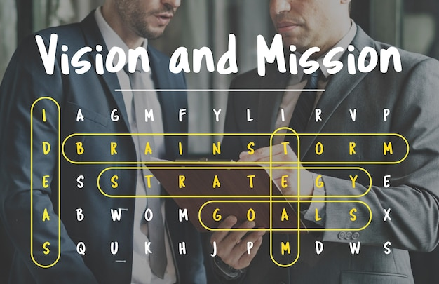 Jogo de wordsearch jogo word corporation business Foto gratuita