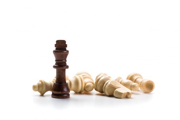 Jogo de xadrez ou peças de xadrez Foto Premium