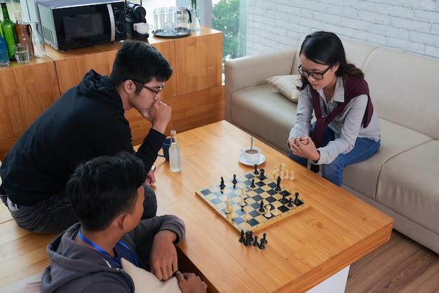 Jogo de xadrez Foto gratuita