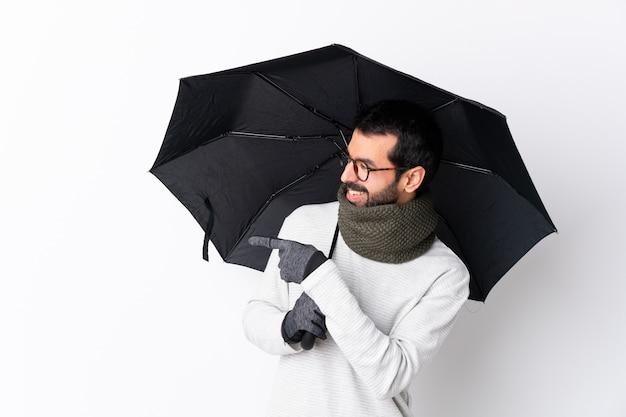 Jovem com guarda-chuva Foto Premium