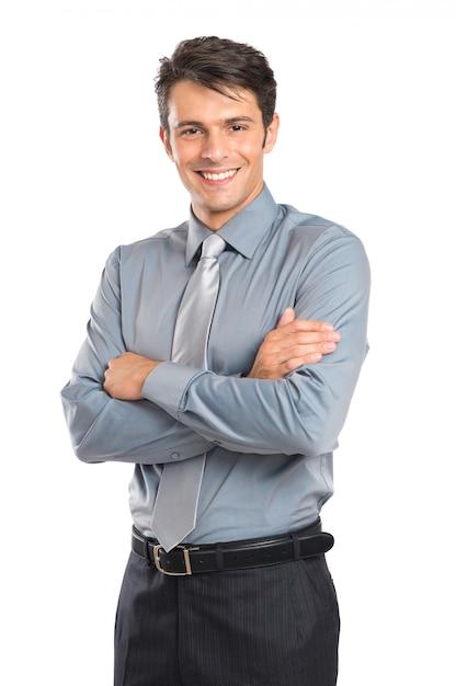 Jovem empresário confiante Foto Premium