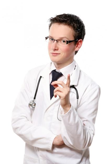 Jovem estudante de medicina Foto gratuita