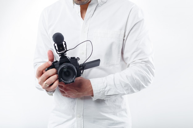 Jovem fotógrafo Foto Premium