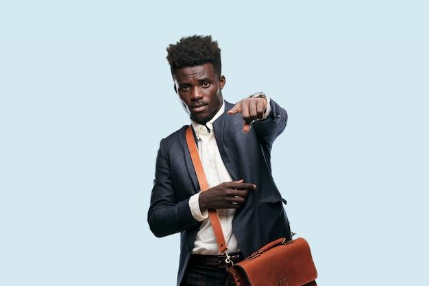 Jovem, homem americano africano, expressar, um, conceito Foto Premium