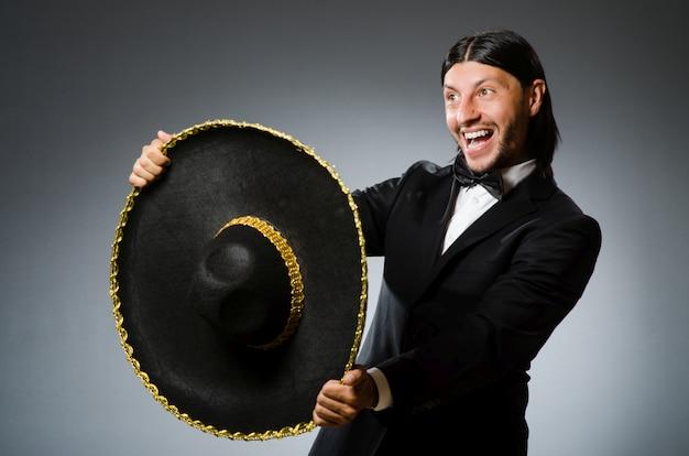 Jovem, homem mexicano, desgastar, sombrero Foto Premium