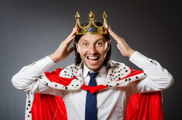 Jovem, rei, homem negócios Foto Premium
