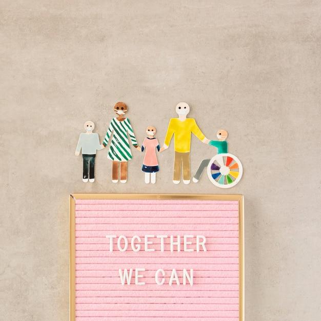 Juntos podemos ajudar no conceito Foto gratuita