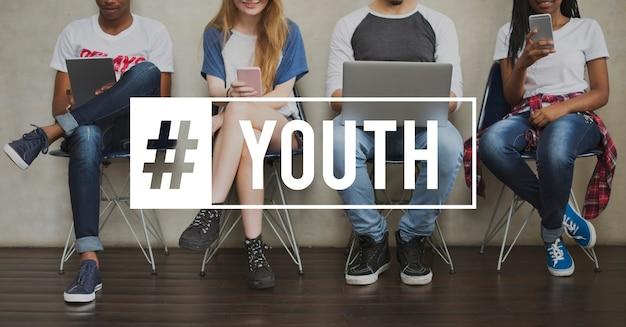 Juventude cultura jovem adulto geração adolescentes Foto gratuita