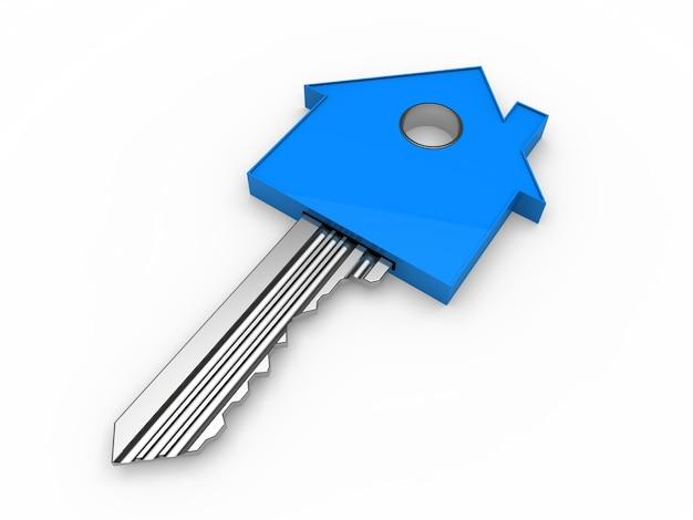 Key em forma de uma casa azul Foto gratuita