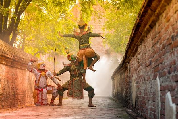 Khon é a cultura da tailândia. Foto Premium