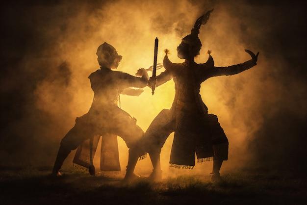 Khon é um drama de dança tradicional Foto Premium