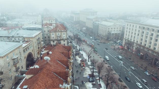 Khreshchatyk é a rua principal de kiev. Foto gratuita