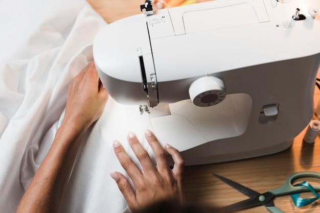 Kit de máquina de costura de vista superior Foto Premium