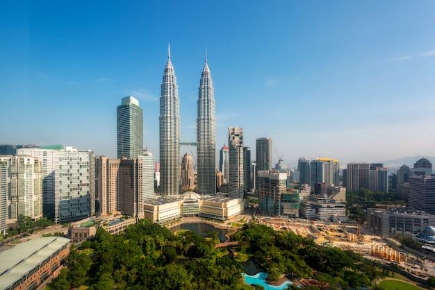 Kuala lumpur, skyline, em, a, manhã, malásia, kuala lumpur, é, cidade capital, de, malásia Foto Premium
