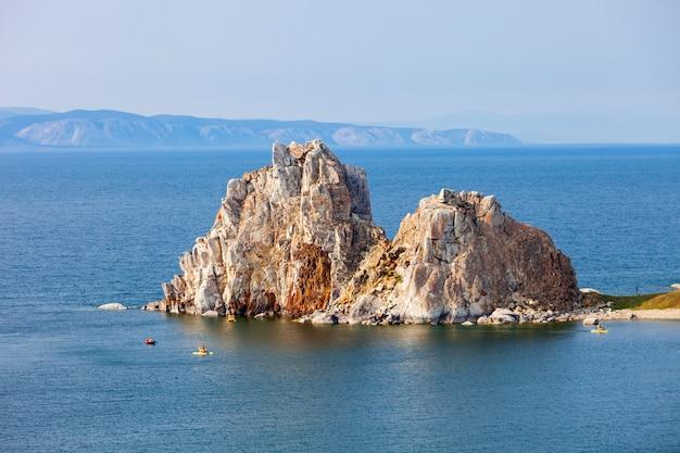Lago baikal na sibéria Foto Premium