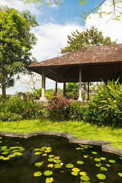 Lagoa de lótus no parque indonésio Foto gratuita