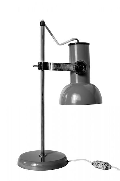 Lâmpada de mesa vintage em branco Foto Premium