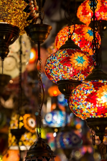 Lâmpadas decorativas turcas Foto Premium