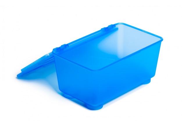 Lancheira de plástico isolada no fundo branco Foto Premium