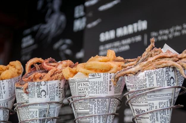 Lanches de frutos do mar Foto Premium