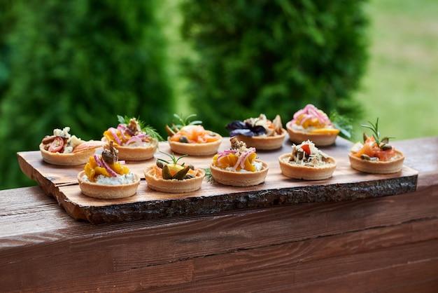 Lanches de tortinhas Foto Premium