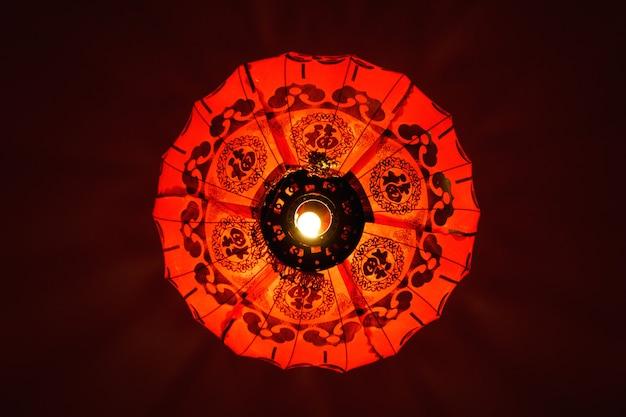 Lanterna vermelha chinesa, símbolo da china Foto Premium