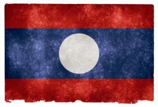 Laos grunge bandeira laotian Foto gratuita