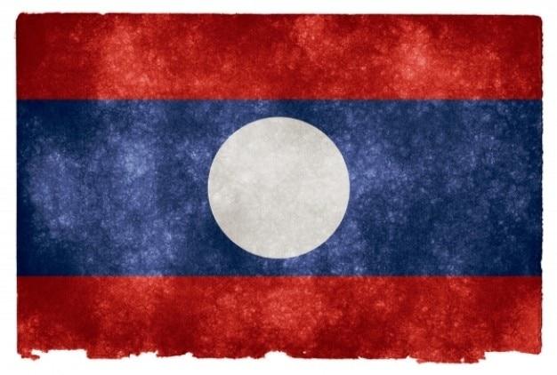 Laos grunge bandeira Foto gratuita