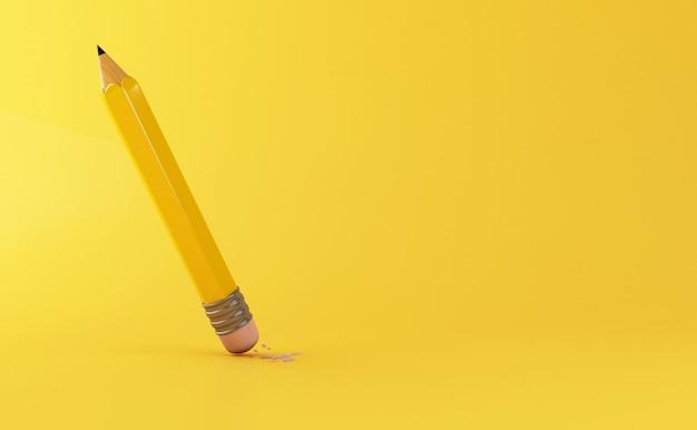 Lápis 3d borracha removendo um erro escrito Foto Premium