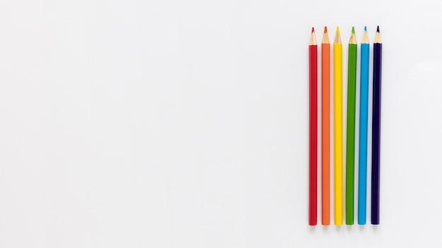 Lápis de cópia-espaço Foto Premium