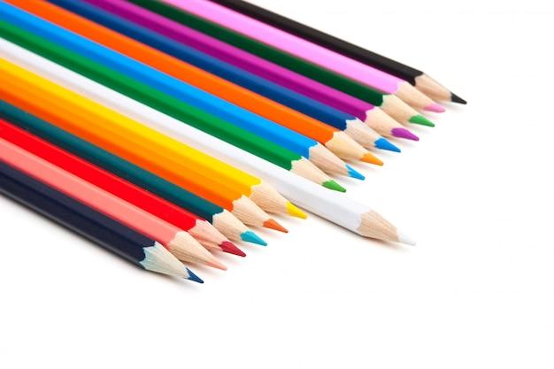 Lápis de cor isolados Foto Premium