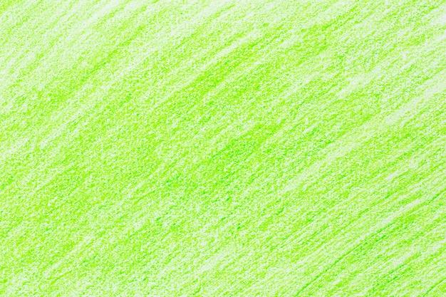 Lápis de traço verde desenho desenho em papel branco Foto Premium